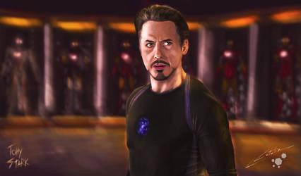 Tony Stark by Lozzus