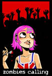 Zombies Calling - t-shirt 01 by damnskippy