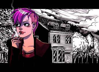Pink Mohawk by damnskippy