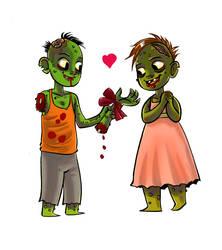 Zombie Love by damnskippy