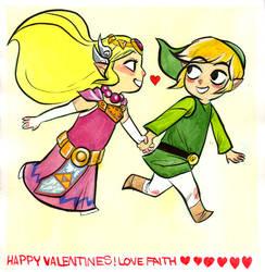 Wind Waker Valentines by damnskippy