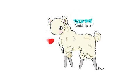 chibi llama by stolen-pie