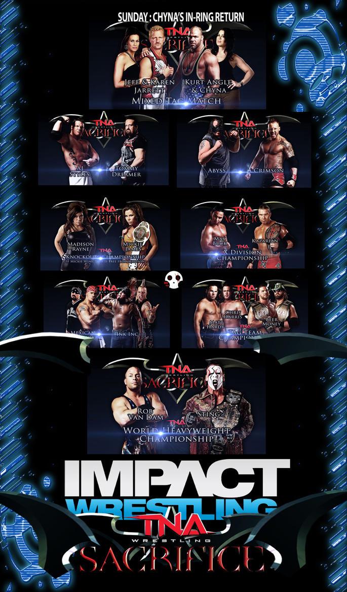 TNA Sacrifice 2011 Matchcard by RedScar07