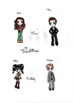 Ziva, Tony, Abby and McGee