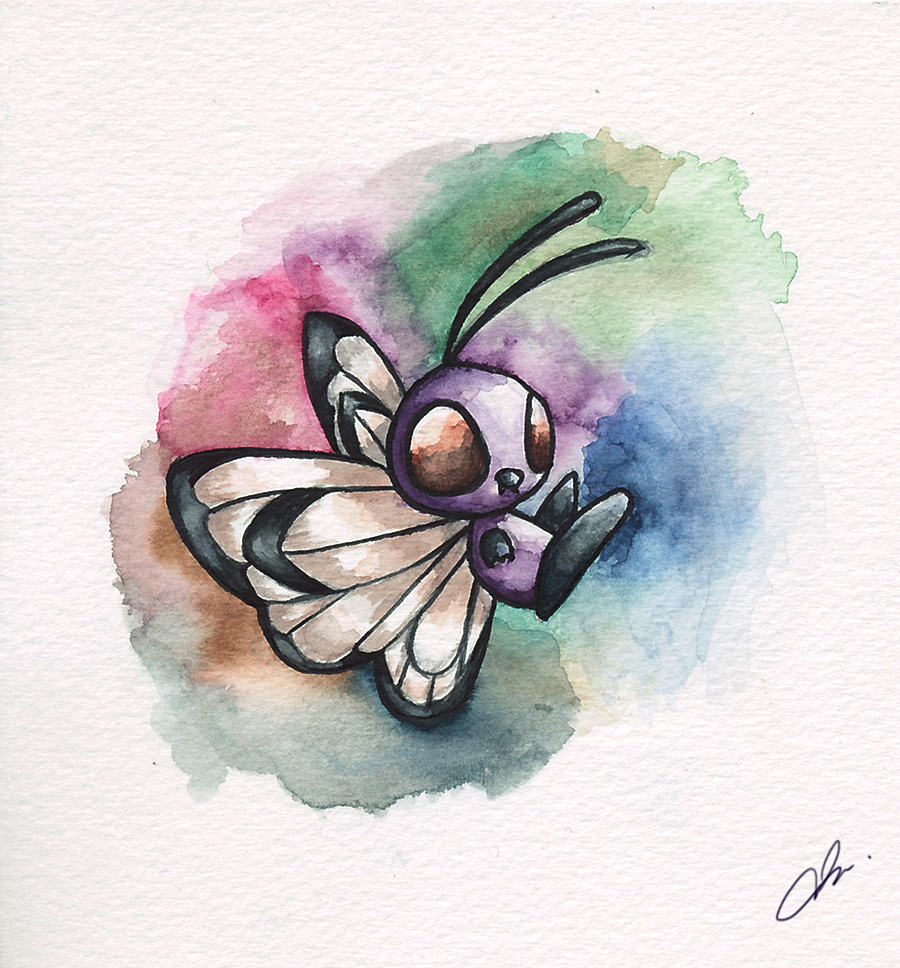 Watercolor-Butterfree by BluHiroo
