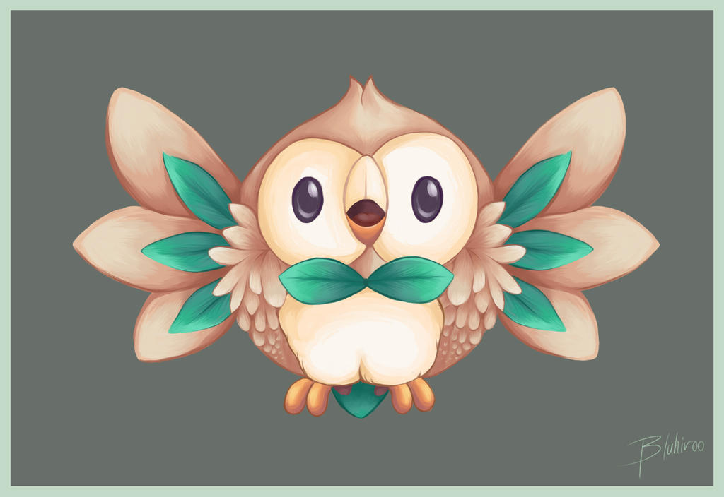 World Of (New) Nintendo (3DS XL) Rowlet_by_bluhiroo-da24lmg