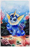 Watercolor Vaporeon by BluHiroo