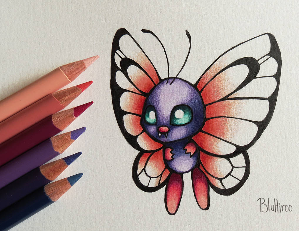 Shiny Butterfree by BluHiroo