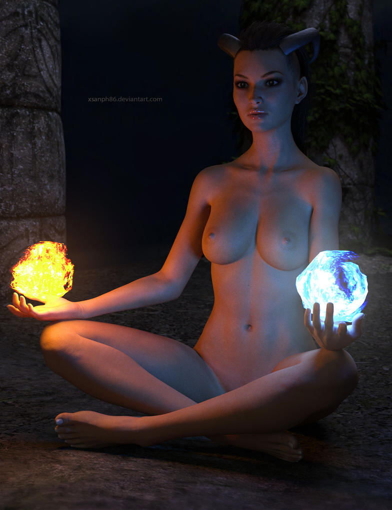 Mage meditation by Xsanph86