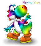 Rainbow Yoshi by louisalulu