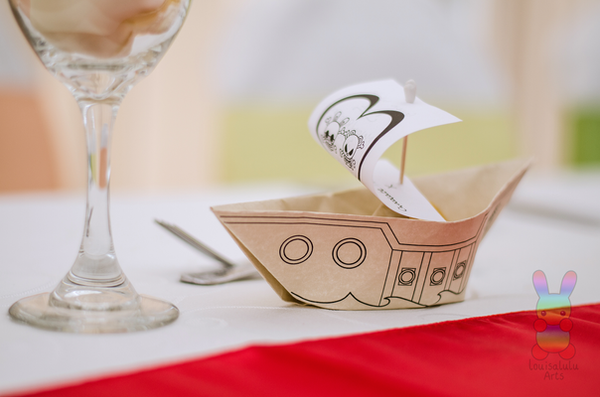 Origami Boat Place Settings by louisalulu