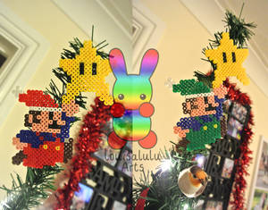 Mario and Luigi Christmas Tree Topper