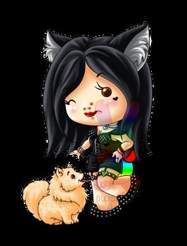 :C: Kari Rose and her Pomeranian