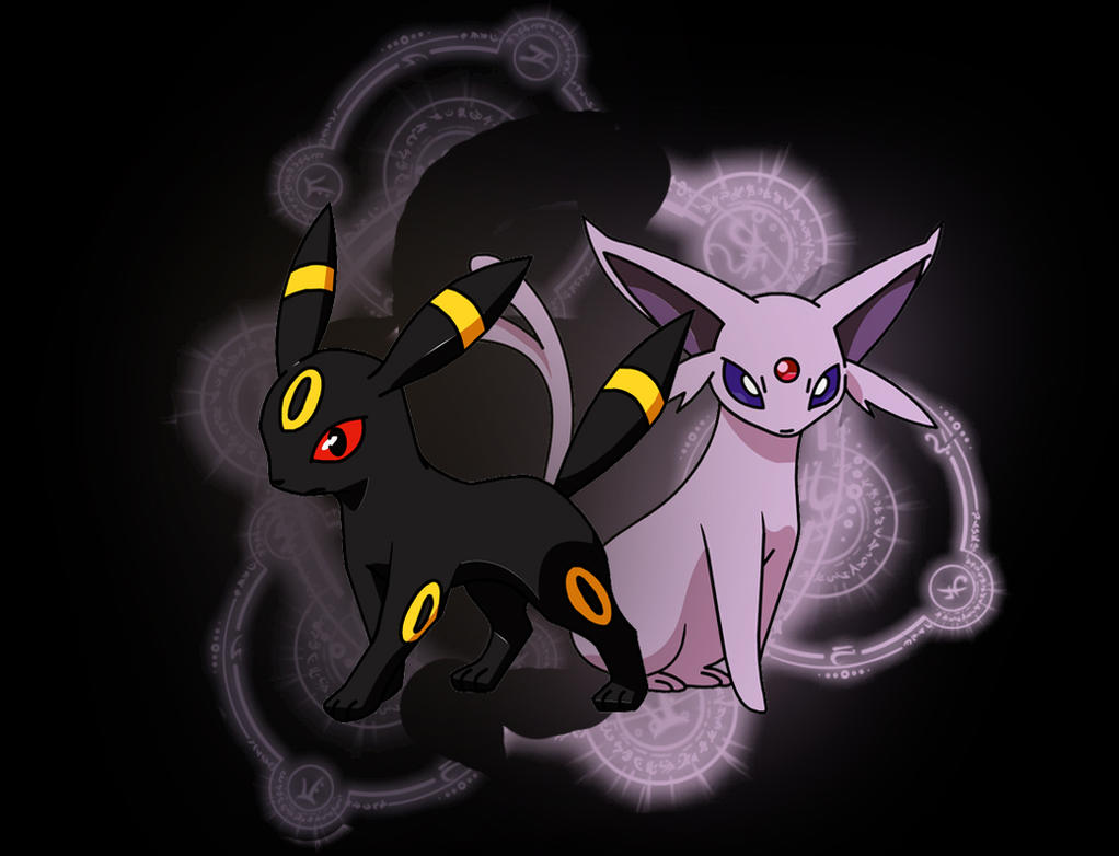 Umbreon And Espeon Love Story espeon and umbreon by