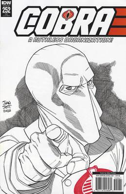 Cobra Commander Sketch Cover