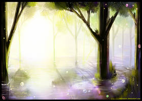 Where the rainbow starts. The waterforest by ShionMion