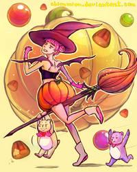Yummy bear. Happy Halloween! by ShionMion