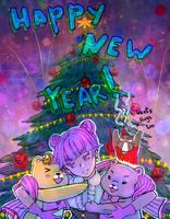 Yummy bear 2017-2018. Happy New Year! by ShionMion