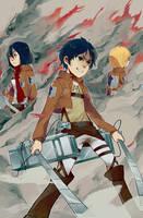 Attack on Titan Trio by Tomoji