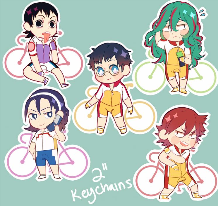 yowapeda keychains by Tomoji