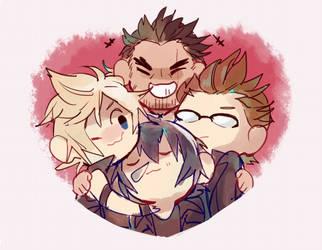 FFXV hugs all around