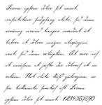 18th century handwriting font by jantiff
