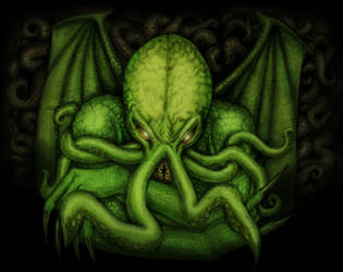 The Great Cthulhu colorized by jantiff