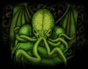 The Great Cthulhu colorized
