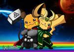 RaichuThor and PikaLoki (Brothers Forever) by JonWKhoo