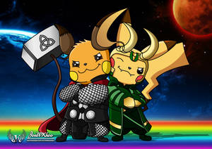 RaichuThor and PikaLoki (Brothers Forever)