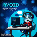 Avoid physical contact with others by JonWKhoo