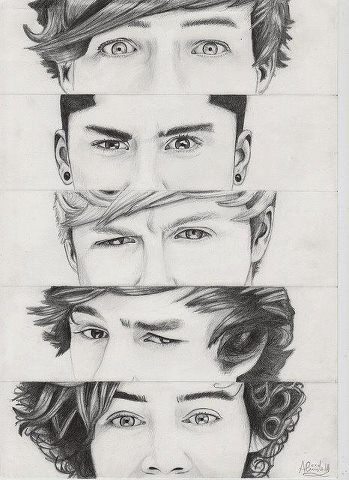 Cool Pencil Drawing Of One Direction By Ganz13676 On Deviantart