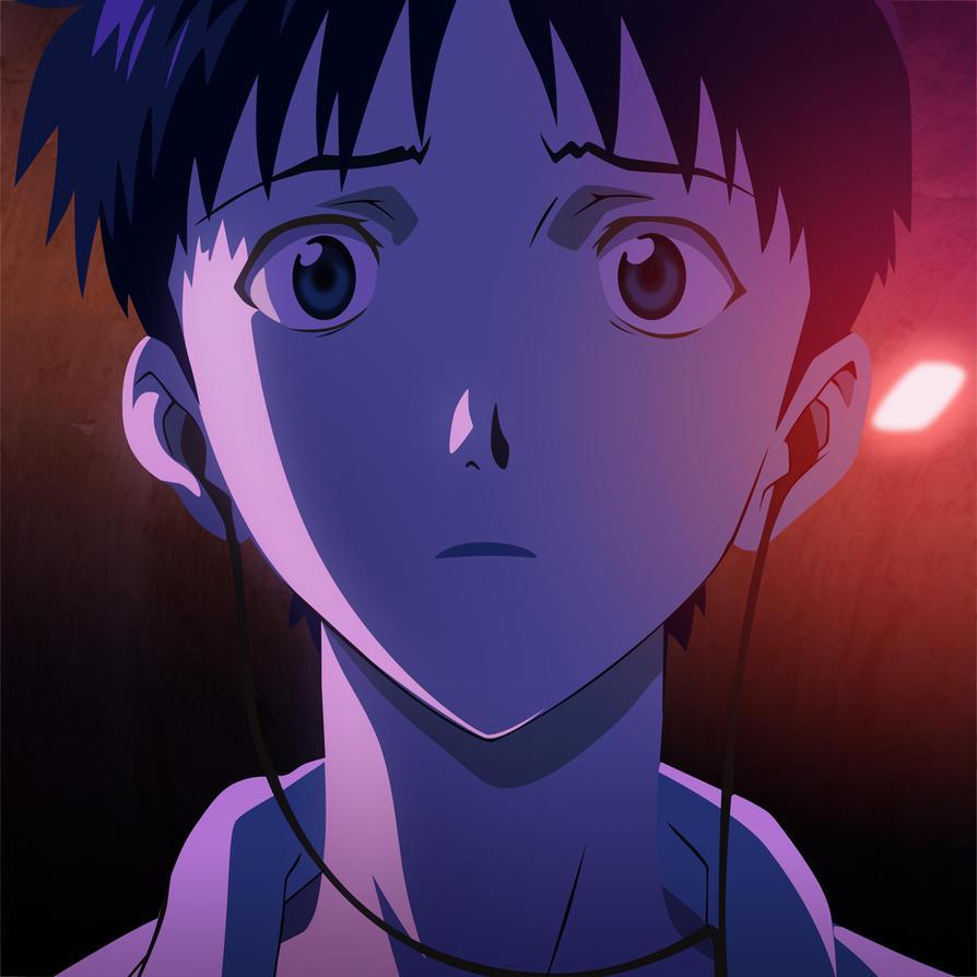Shinji Ikari Screencap Remaster by Orinknight