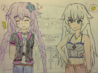 Day with Neptune and Noire by Frost1089