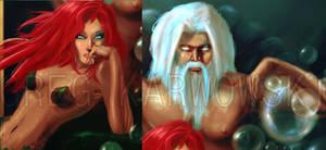 Lit-Mermaid and Triton detail