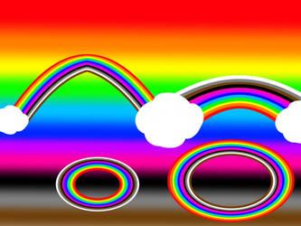 Cloudy Rainbow Light
