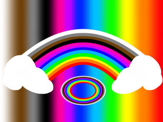 Rainbow Light Cloudy