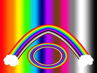 Rainbow Cloudy Light