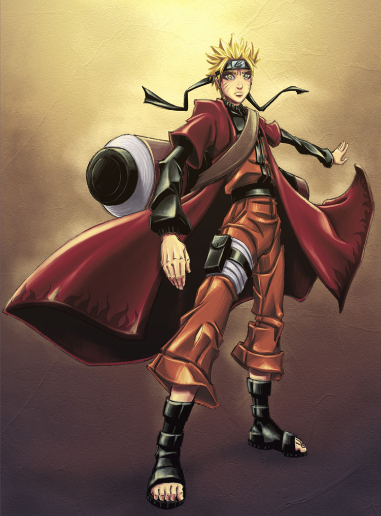 Naruto Sage Mode Color By Jubeispiegel On Deviantart