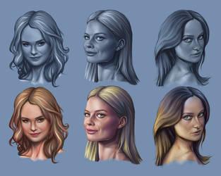 Face Studies by JubeiSpiegel