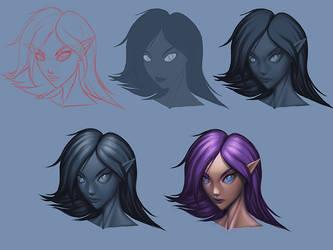 Face Study 2 by JubeiSpiegel