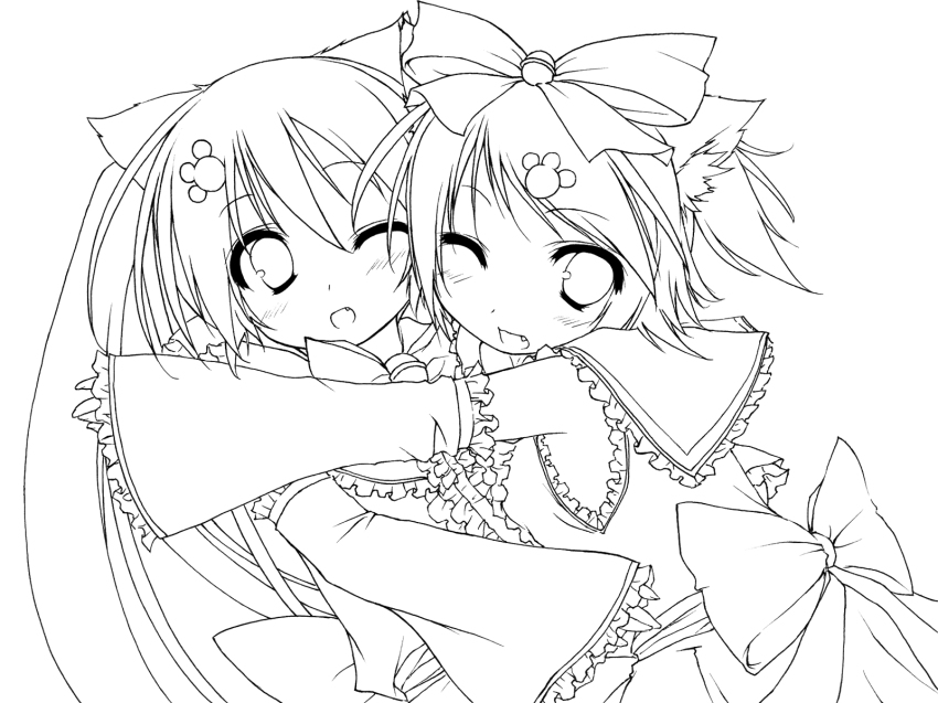 Miku and rin by misstsunadesenju147 on deviantart for Fnaf anime coloring pages