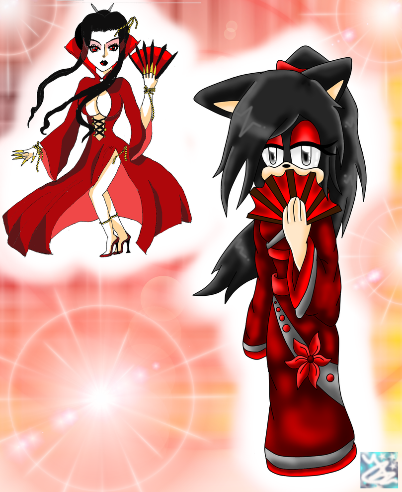 Collab: Red Kimono: Different Styles by SapphireTheCat7