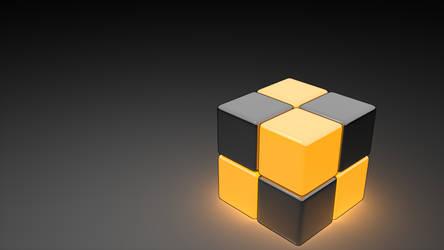 Neon Cube Orange 1920x1080