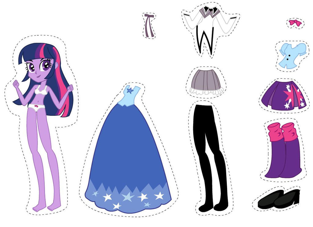 Equestria Girls Dress Up- Twilight 1.0 by Chicken-Cake