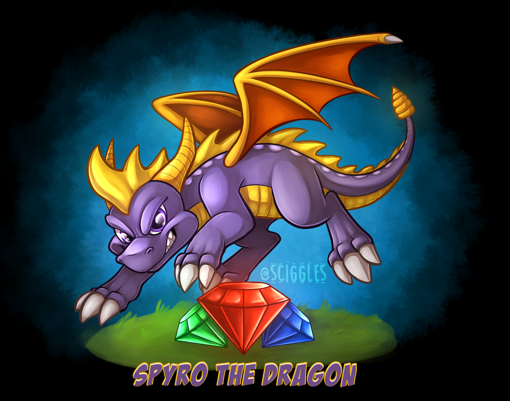 spyro the dragon by sciggles on deviantart