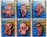 Wooden Animal Crossing Pins