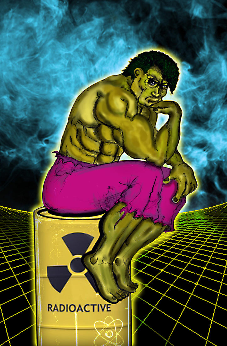 The thinker Hulk by technoborg