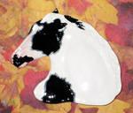 Black Paint Horse Spoon Rest
