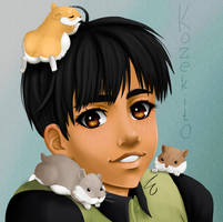 Yuri on ice - Phichit's Hamsters by Kozekito